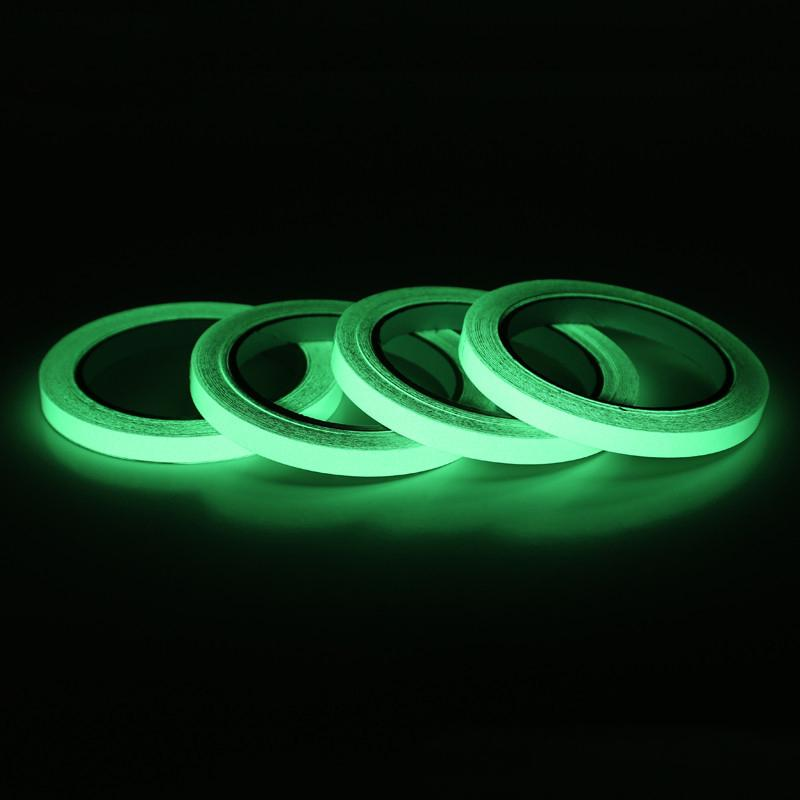Brillan En La Oscuridad Pegatina de cintas adhesivas 3M rollo de película De Seguridad Auto Adhesivo Luminoso