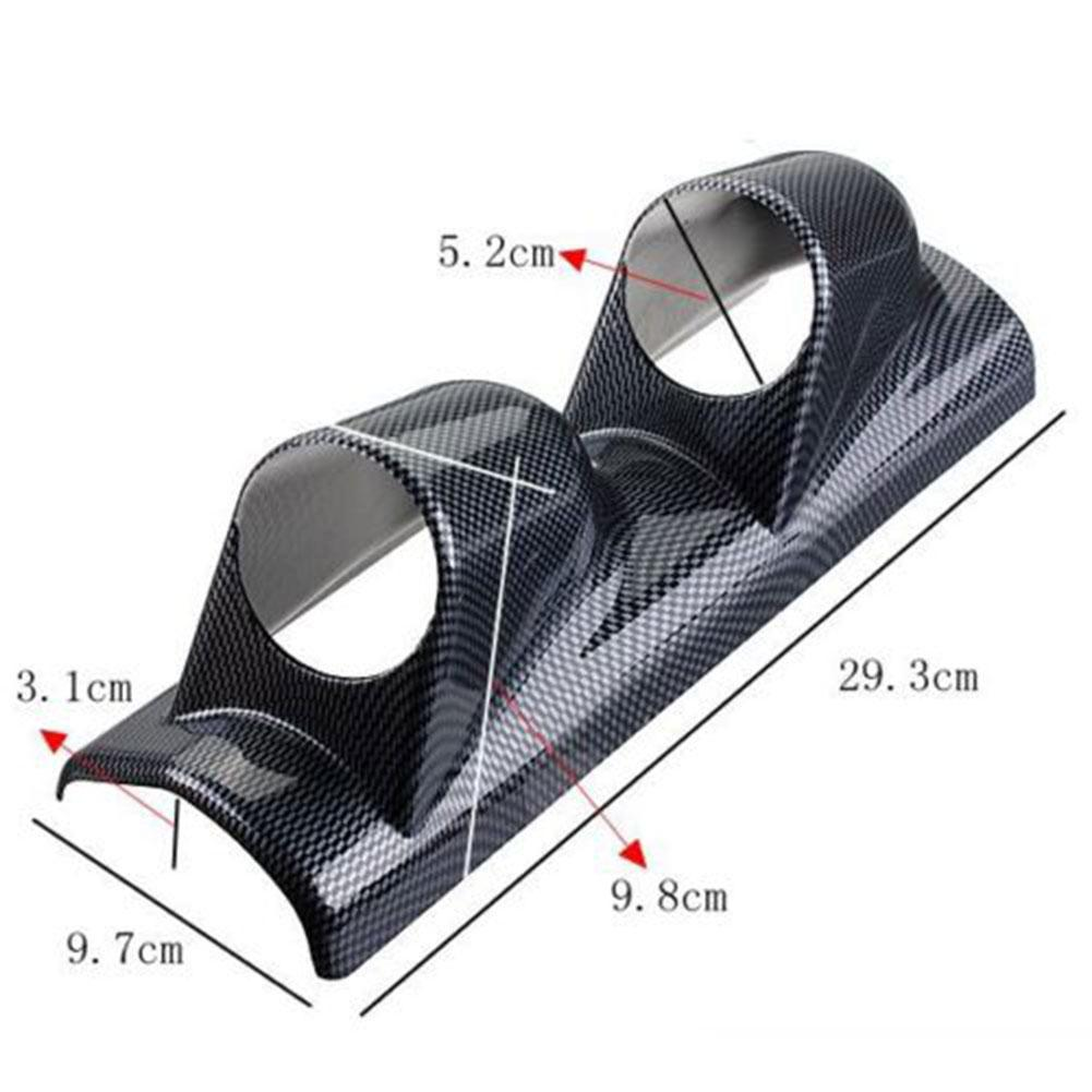 "Carbon Side Car 2/"" 52mm Universal Three Hole DashBoard Gauge Pod Holder ABS"
