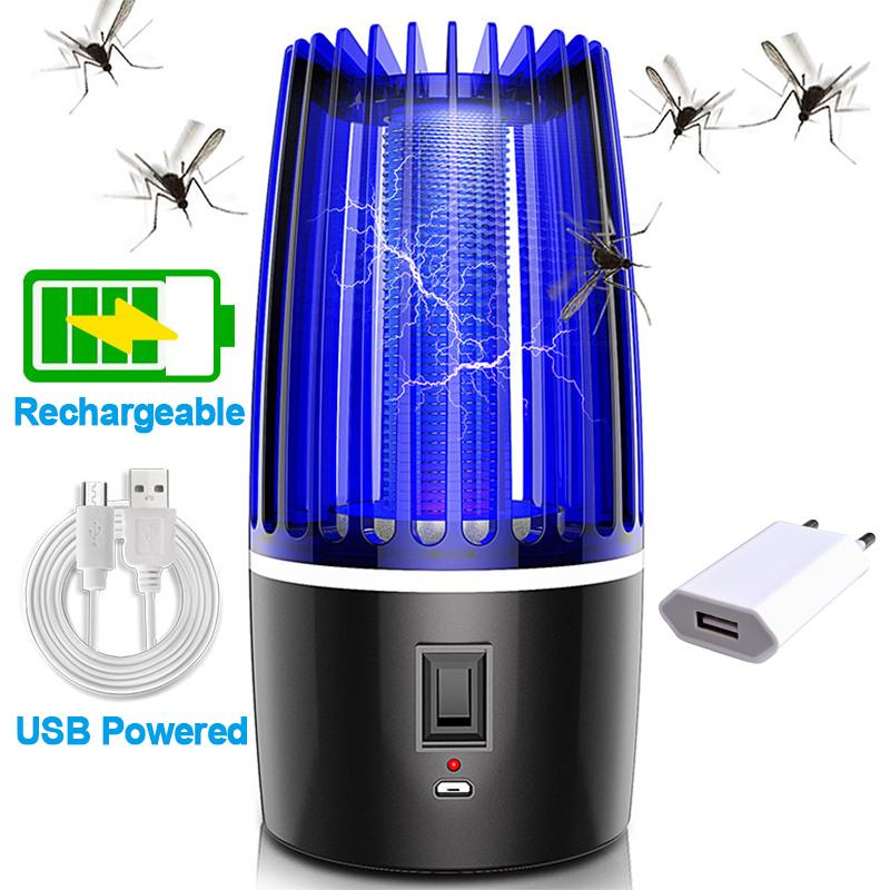 USB LED ELECTRIC UV LIGHT MOSQUITO KILLER INSECT GRILL BUG TRAP CATCHER