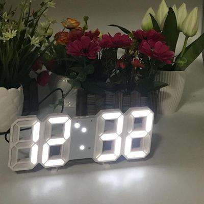 3D Electronic LED Digital Alarm Clock Automatic Adjustable LED Brightness Upgrade Version