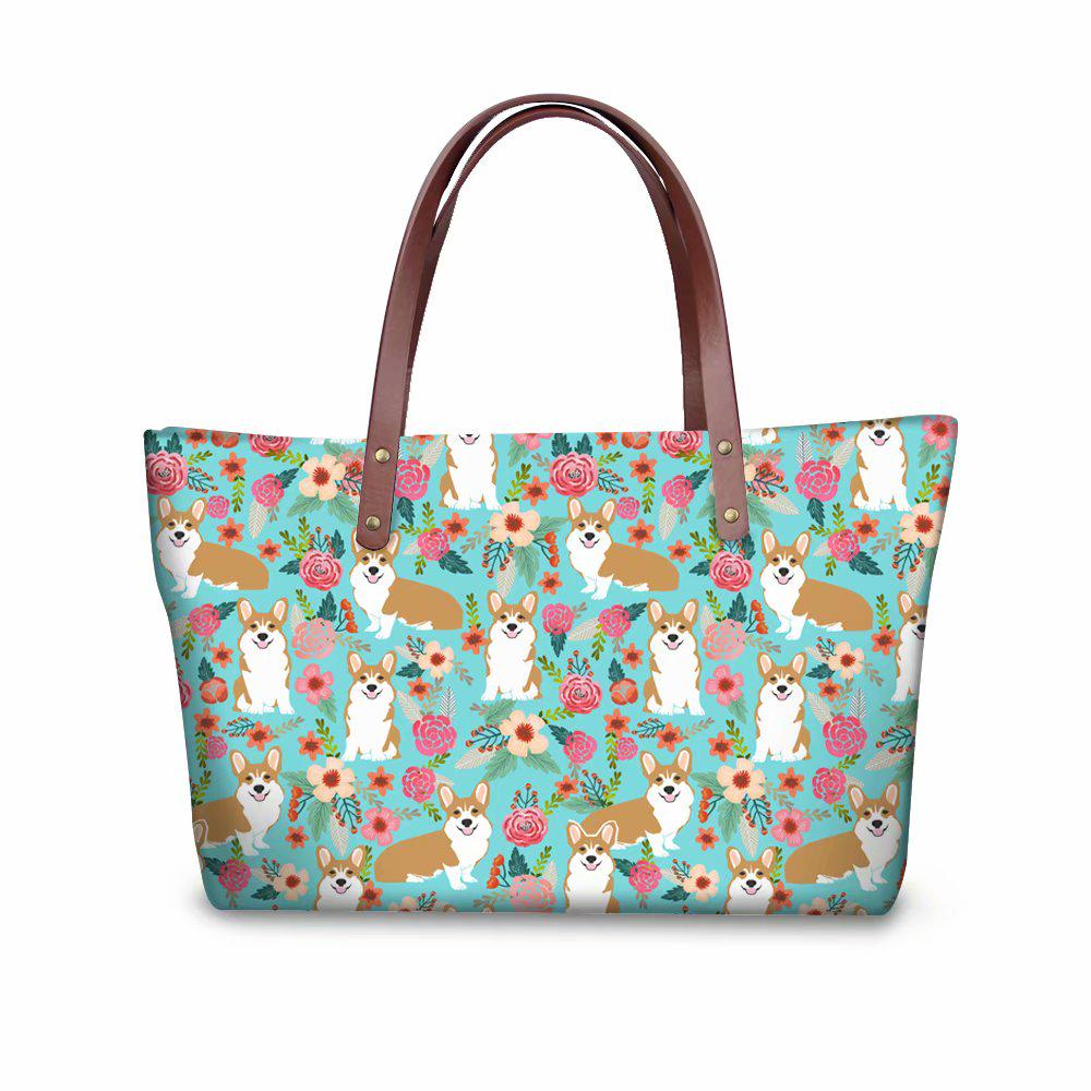 Pug Dog Womens Tote Bags Canvas Shoulder Bag Casual Handbags