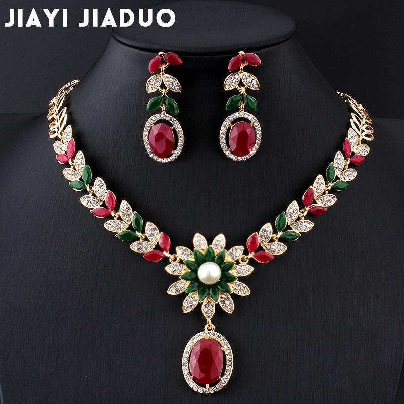 ff57bd9eda17 jiayijiaduo joyas nupcial India collar de la conjunto de perlas de ...