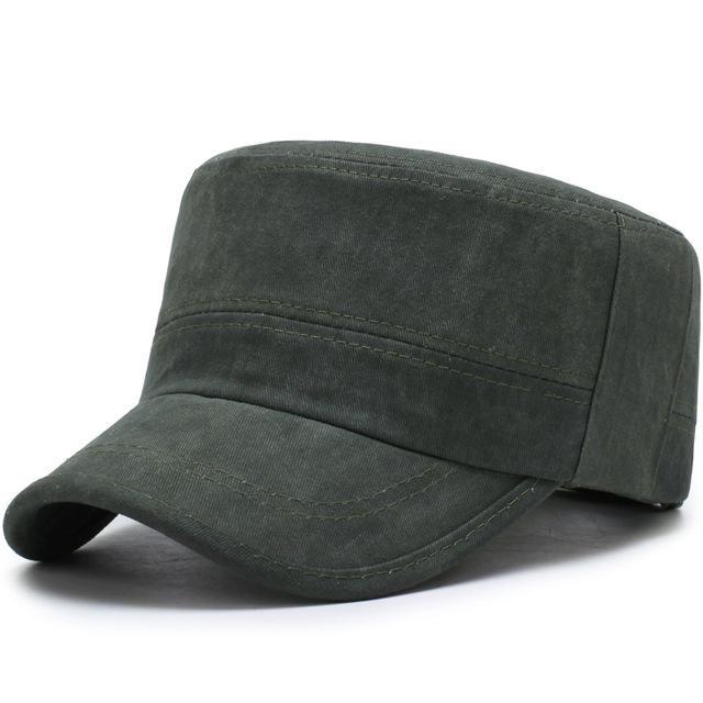 0e9f45b5016 Fashion Mens Cadet Unisex Women Men Flat Roof Hat Patrol Bush ...