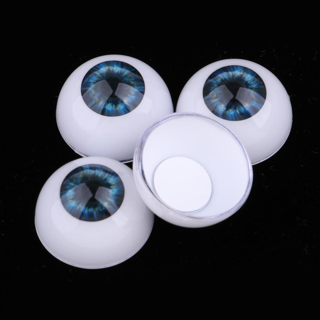 5 Pairs Acrylic Oblate Doll Eyeballs Eyes Halloween Props Doll Crafts 20mm
