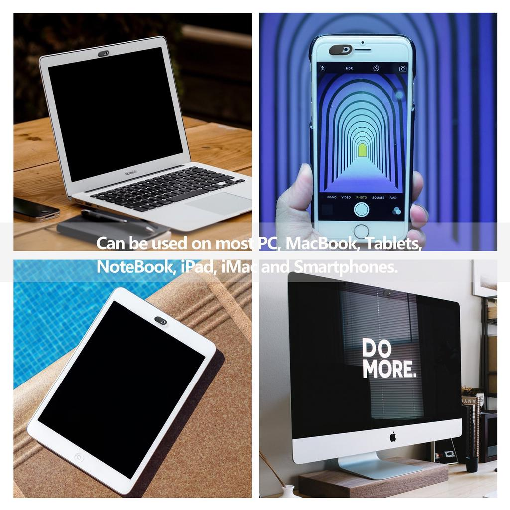 YRO 3 Pack Webcam Cover Ultra-Thin Slide Privacy Protector Camera Cover For Laptop Phone Protect Your Privacy and Security Strong Adhesive Block