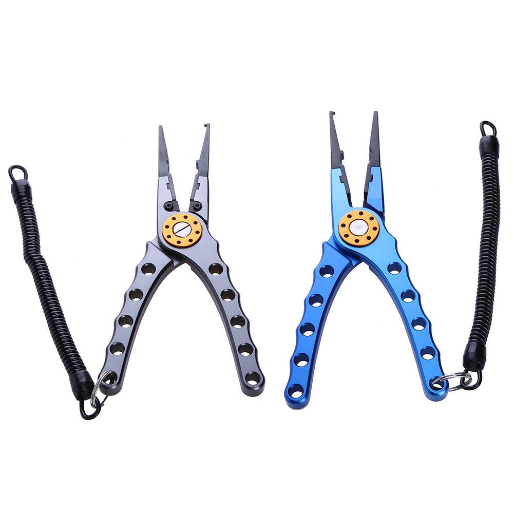 Fishing Pliers Sea Saltwater Braid line Cutter Hook Holder Curved Nose 15.5 cm