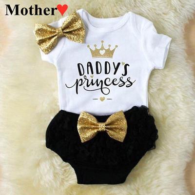 Newborn Baby Girl Summer Dress Tops+Tutu Pants 2PCS Outfits Clothes Sunsuit Set 0-24M