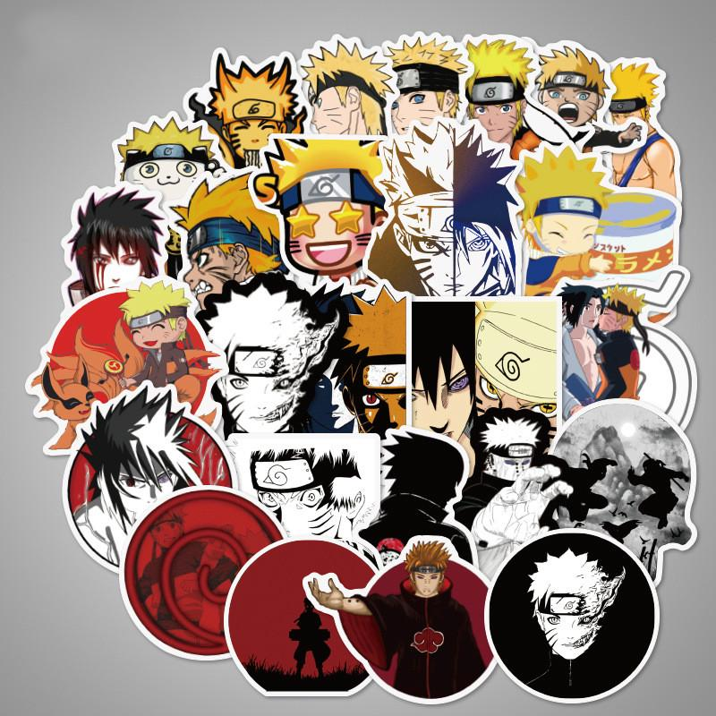 Anime cartoon Naruto stickers for suitcase laptop 70 PCS Waterproof PVC vinyl