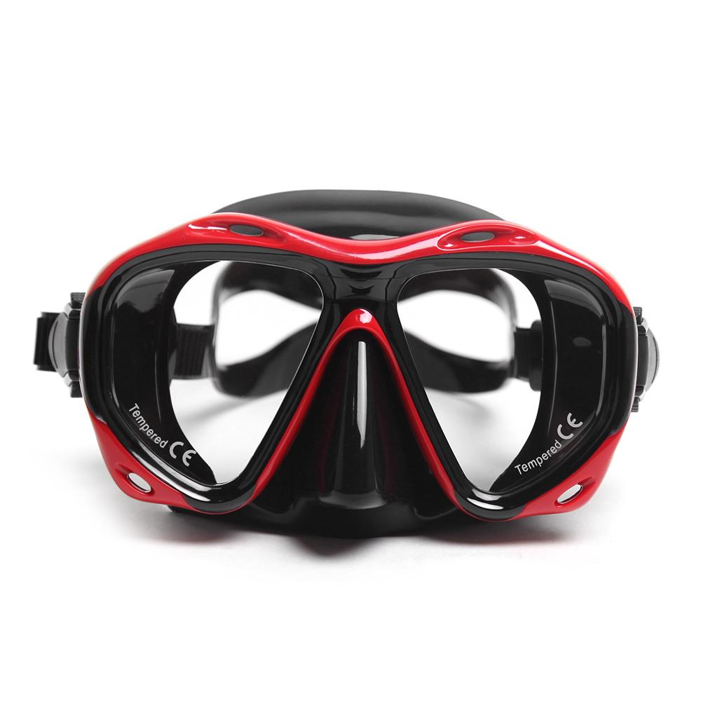Anti-fog Snorkel Mask Silicone Skirt Adjustable Diving Underwater Goggles