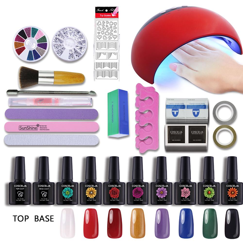 Nail Gel Kit Manicure Set 24w Uv Lamp Usb Led Dryer Art 8 Colors Polish Sets At A Low Prices On Joom E Commerce Platform