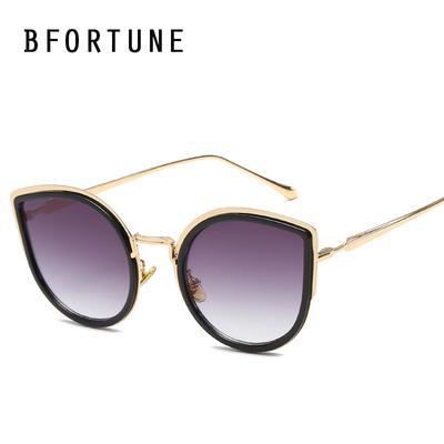 c2d0d79fb1 BFORTUNE ojo de gato gafas de sol mujeres hombres marca tonos diseño espejo  sol lentes UV400