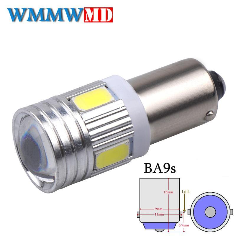 1 x BA9S 6 SMD 5630 LED Canbus лампы t4w h6w автомобиль лампы Светодиодные огни автомобиля свет 12V белый 6000K фото