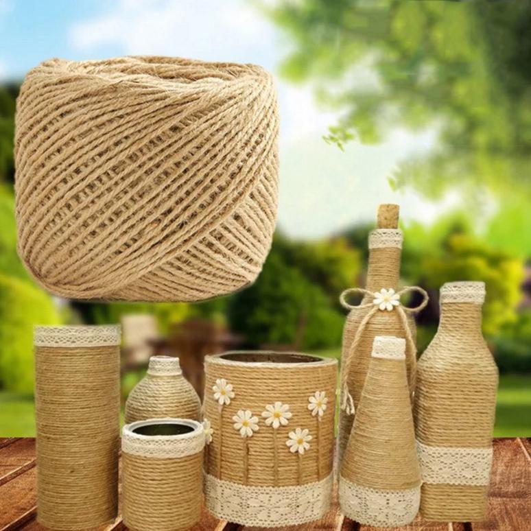 Yute hilo Sisal Natural rústico etiquetas abrigo boda decoración manualidades cuerda cuerda cuerda eventos - comprar a precios bajos en la tienda en línea Joom