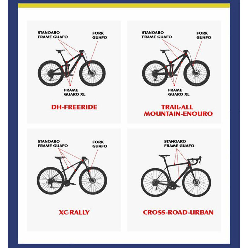 Bicycle Frame Sticker Mountain Bike Paster Scratch Resistant Protector K7K2