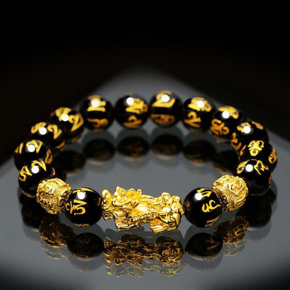 Feng Shui Black Obsidian Wealth Bracelet Original Quality