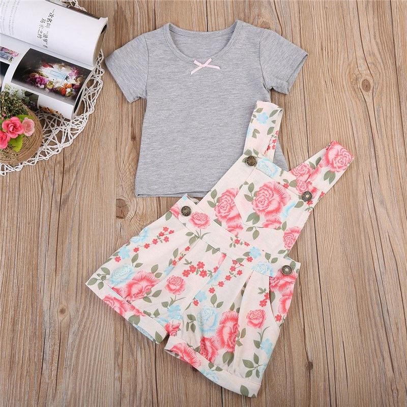 NWT Carters Baby Girls 3 Piece Cotton Bodysuit Pants Summer Outfit NB to 24 Mos