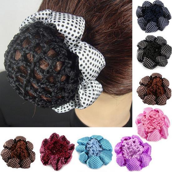 Women Fashion Bun Cover Hair Snood Ballet Dance Skating Crochet Hair