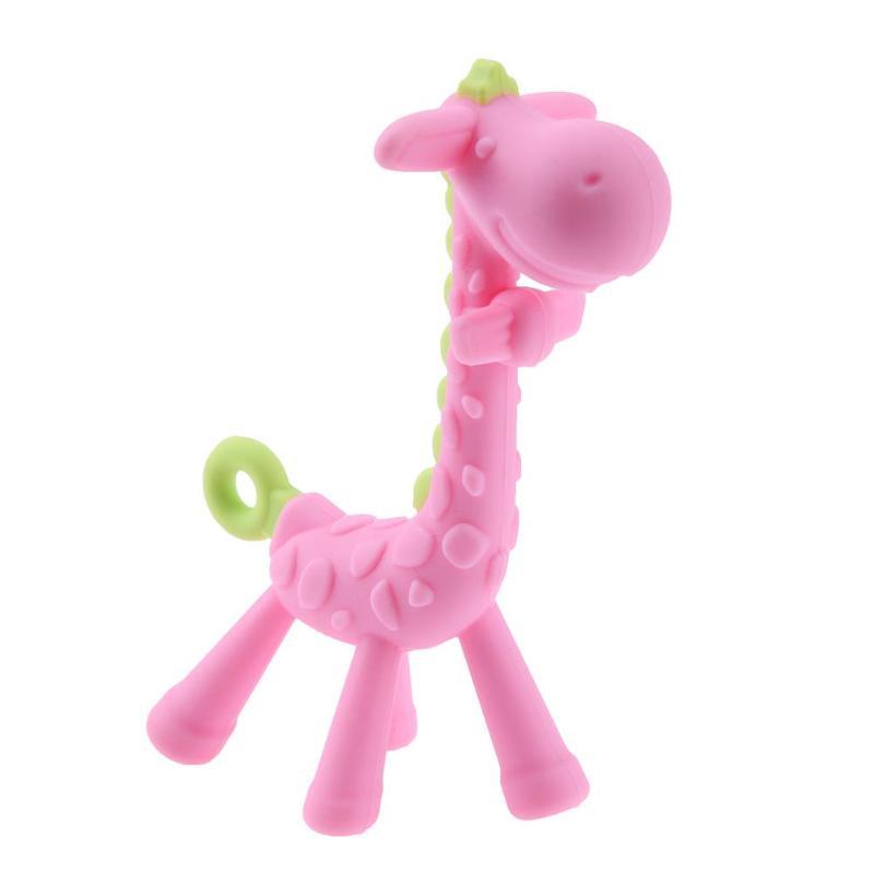 Giraffe Silicone Teething Toothbrush Stick Baby Chew Toy Dental Care Soft Teeth