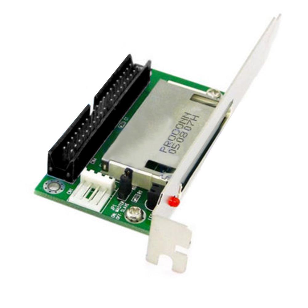 40-Pin CF Compact Flash Card per 3.5 Adattatore Convertitore IDE PCI STAFFA PANNELLO POSTERIORE