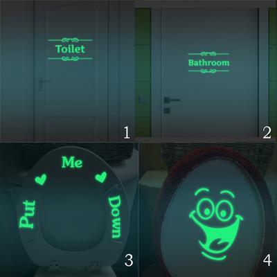 DIY Bathroom Hit The Target Pattern Toilet Luminous Sticker Emitting Fluorescent