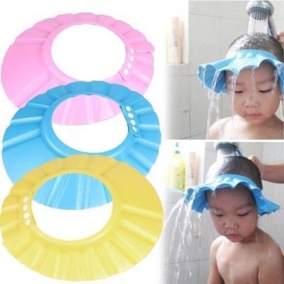 36227cf3e Suave bebé ajustable niño niños champú baño ducha tapa sombrero lavado  lindo pelo escudo Color al