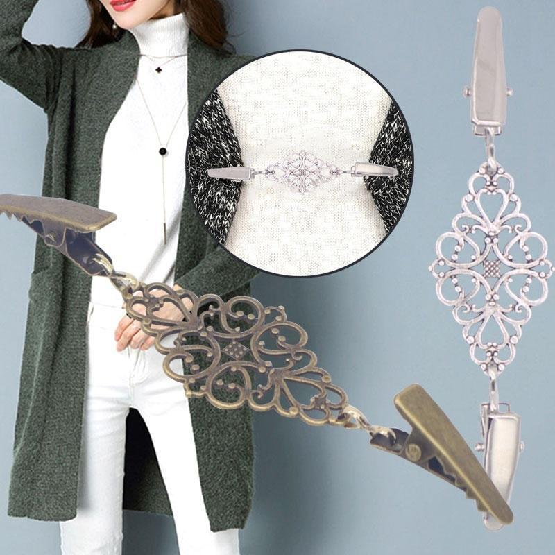 Винтажные Diamond свитер шарф клип сплава кардиган затяните зажим рубашки кнопку 0829ZD13 фото
