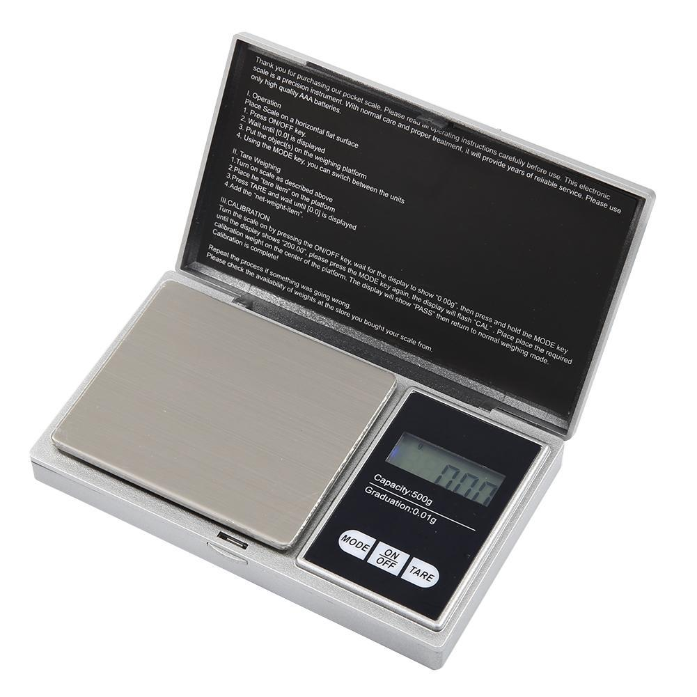 Mini Palm Jewelry Pocket Scale Digital Electronic LCD Backlight Weight Gold \UK