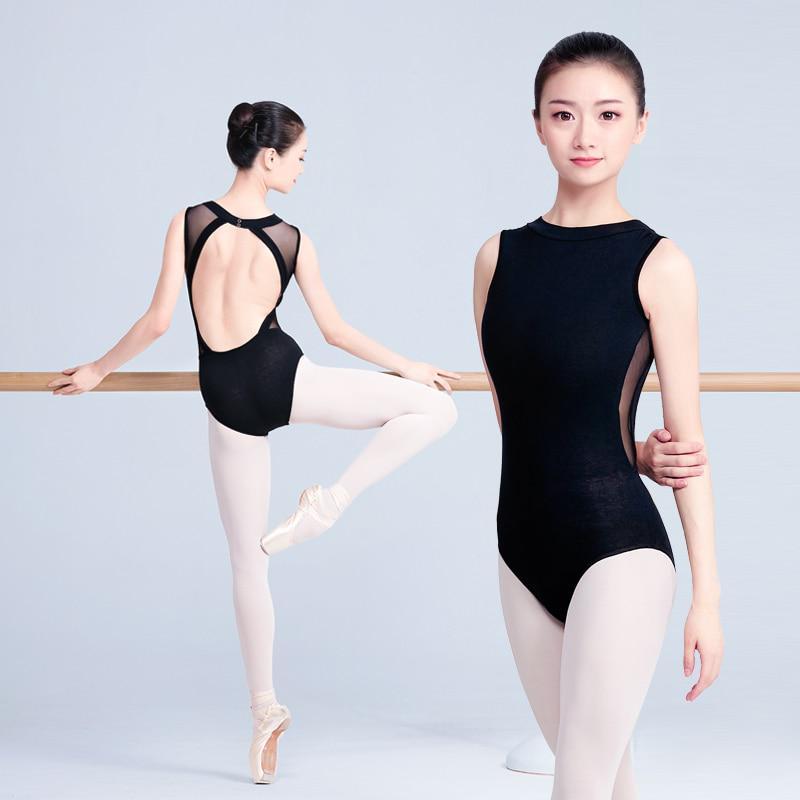 Girls Kids Leotard School Dance Show Gymnastics Ballet Sleeveless Leotards Top