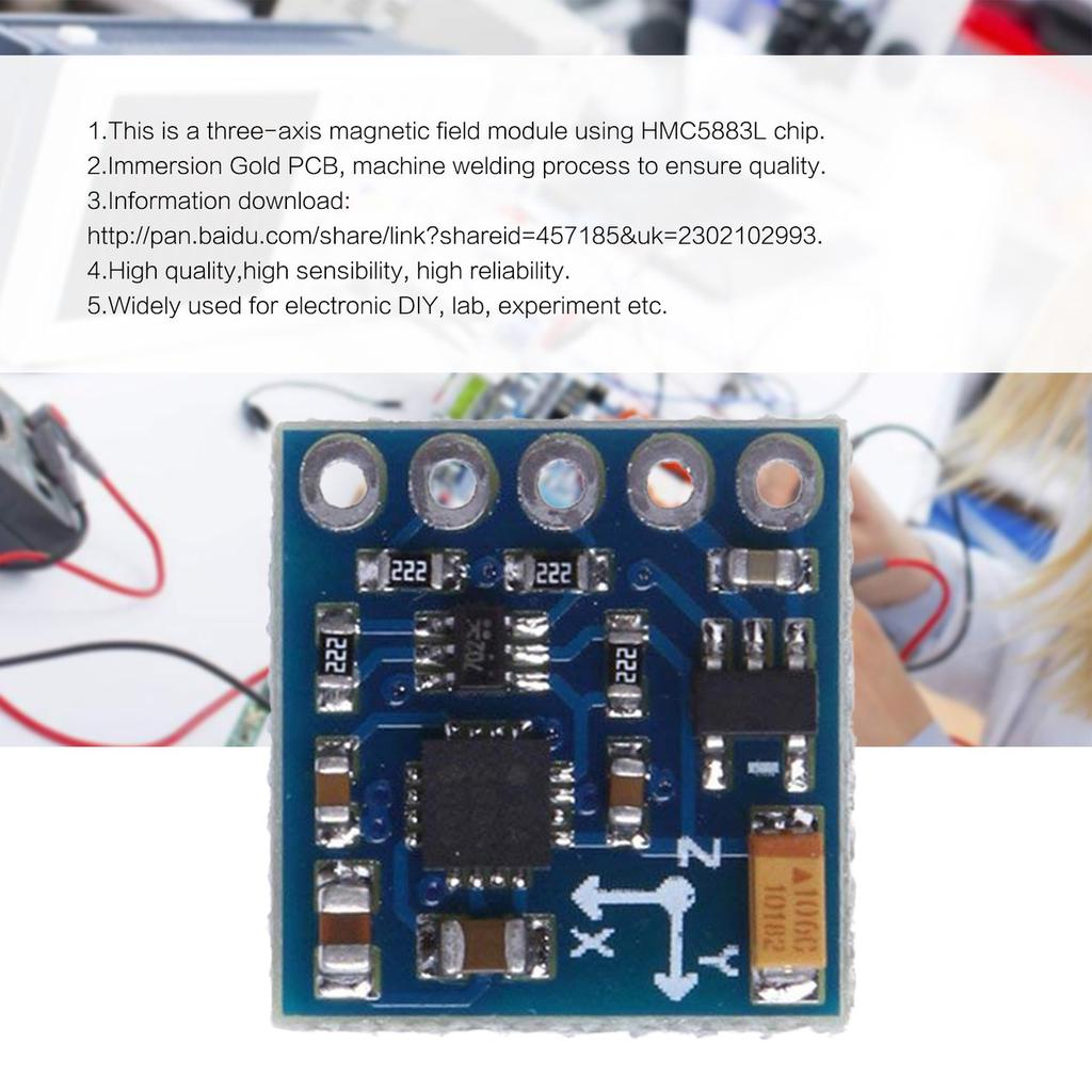 GY-271 HMC5883L Three-axis Digital Compass Magnetic Field Module  Magnetometer-buy at a low prices on Joom e-commerce platform