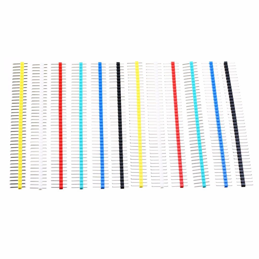 Row of 40x Straight Male Pin for PCB Connector Copper Strip 2.54mm Header
