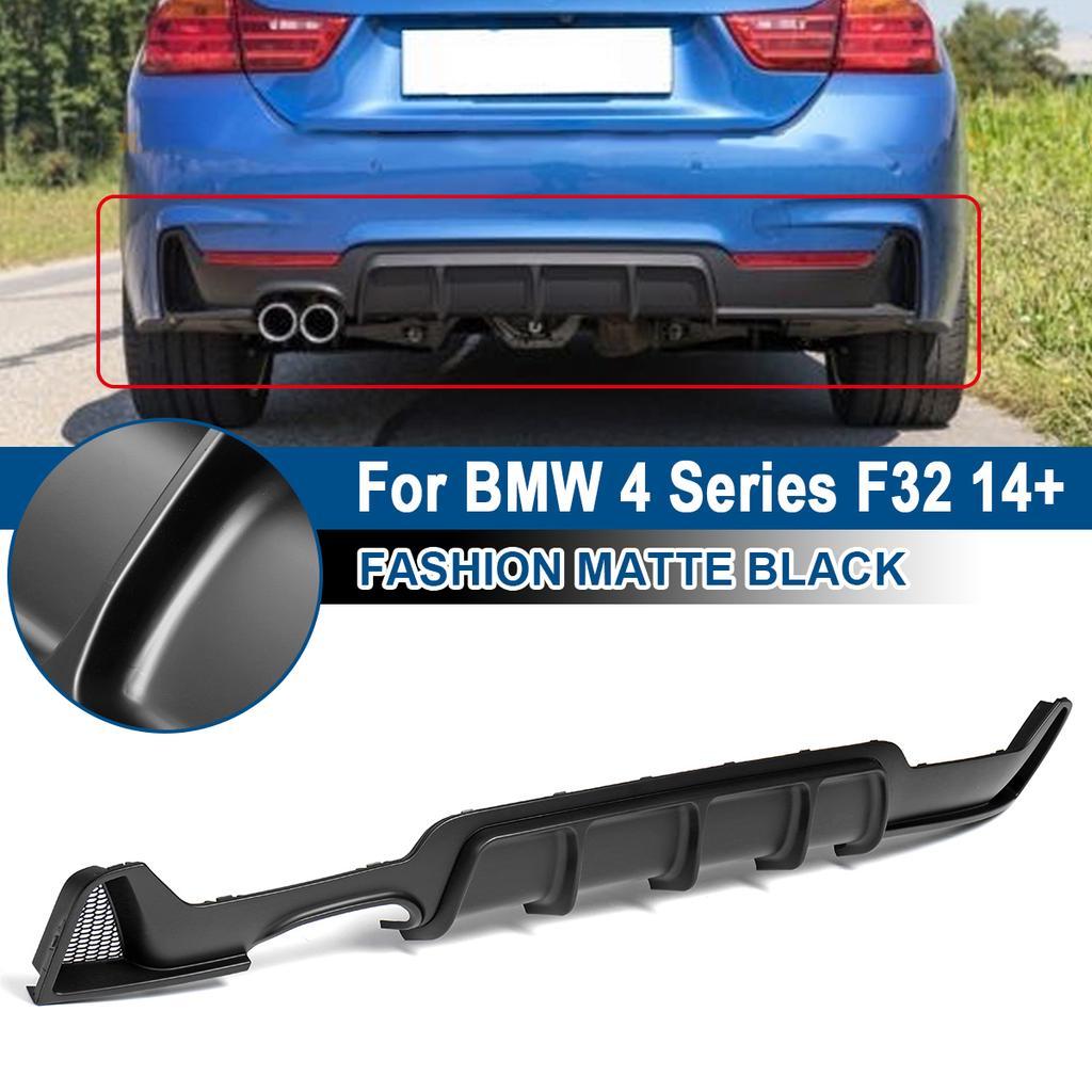 Rear Bumper Diffuser Twin Exhaust Pipe For BMW 4 Series F32 2014 CF SA