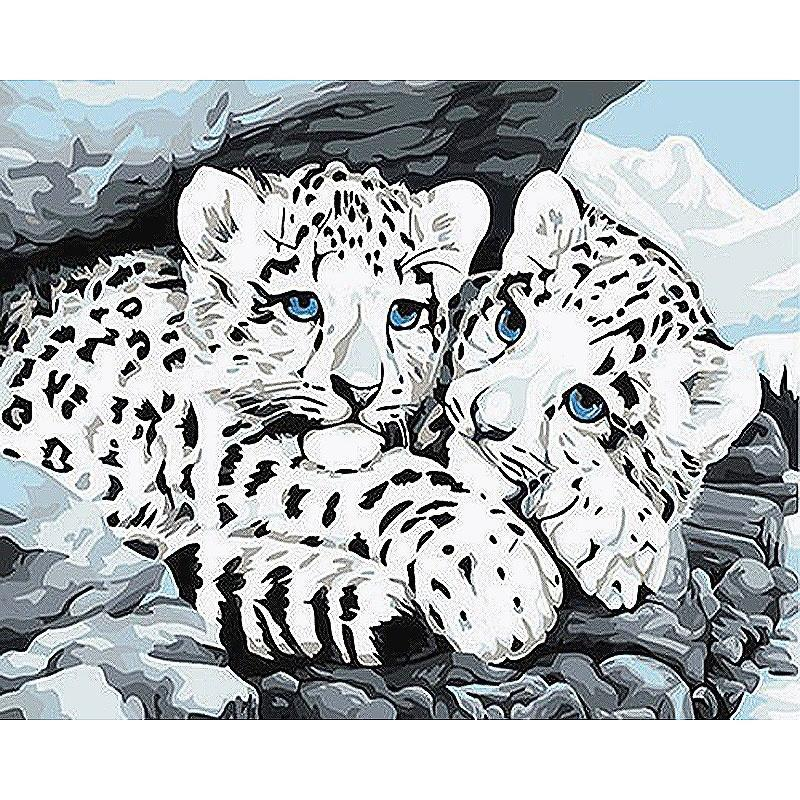 Paint By Numbers Kit Leopard 40CMx50CM Canvas
