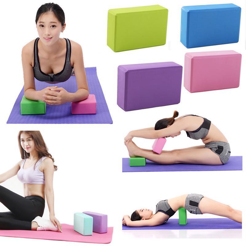 2 pcs Yoga Block Foam Brick Stretching Aid Gym Pilates For Exercise Fitness Soft