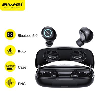 T19 TWS Bluetooth 5.0 Earphones Wireless Headphone Bass Stereo Earbud Stereo Sports Headsets 2500mAh Charging Box for Sport