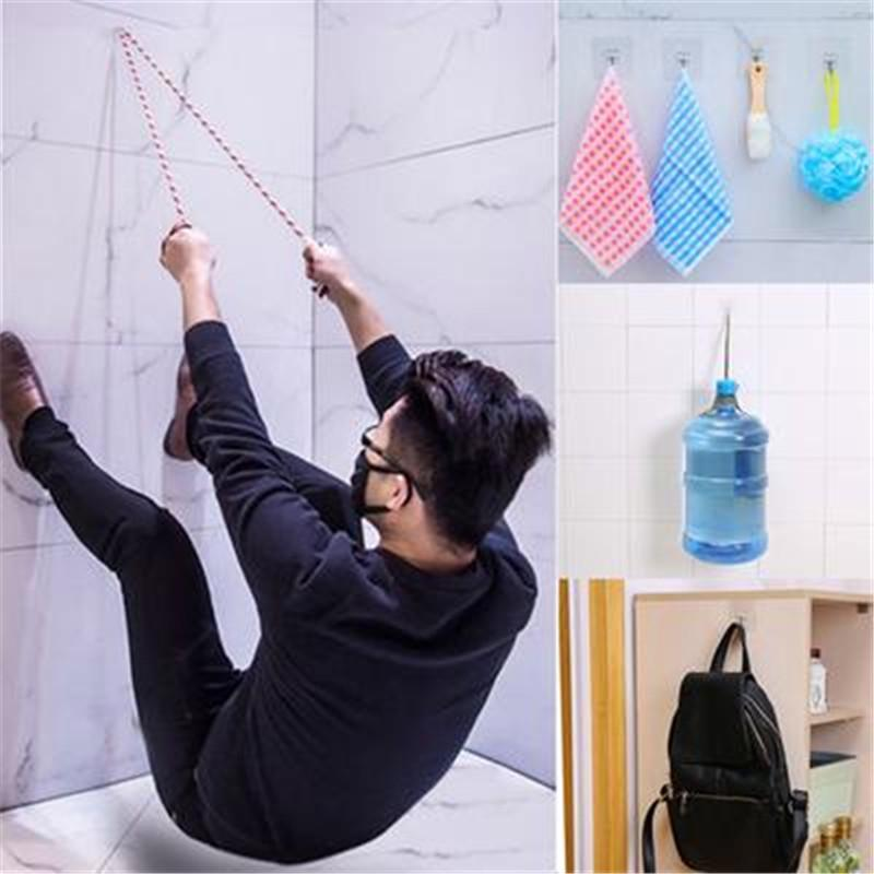 Super Strong Self Adhesive Wall Hooks Suction Cup Sucker Tower Hanger Bathroom