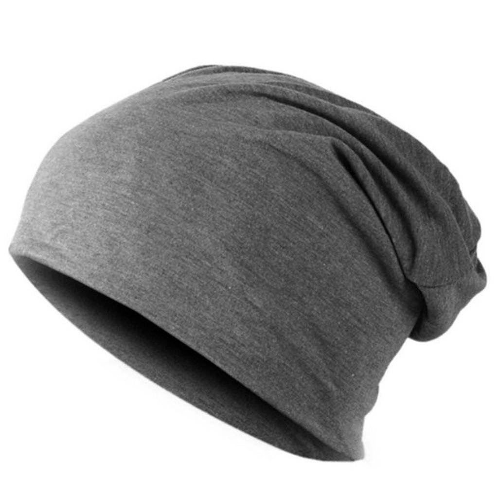 Unisex Adult Stretched Hip Hop Beanie Hat Elastic Skull Hat Slouchy ... 7c3b52662af6