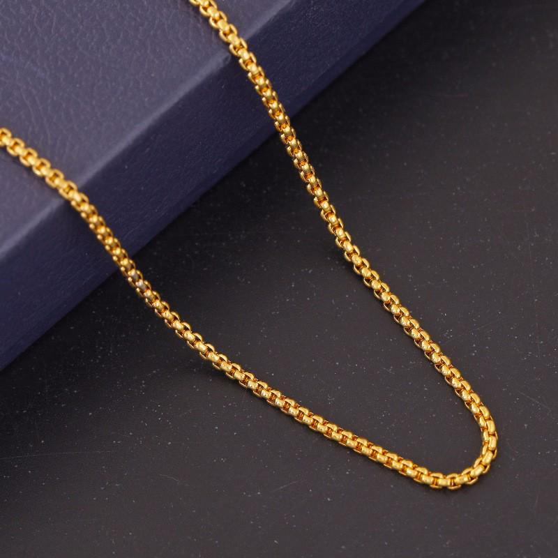 Fashion Women Men Cuban Hip-Hop Link Gold Chain Necklace Jewelry Gift 16-30inch