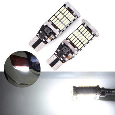 2 x T15 W16W 30 SMD 4014 Error Free Canbus LED Car Reverse Back Light Bulb White