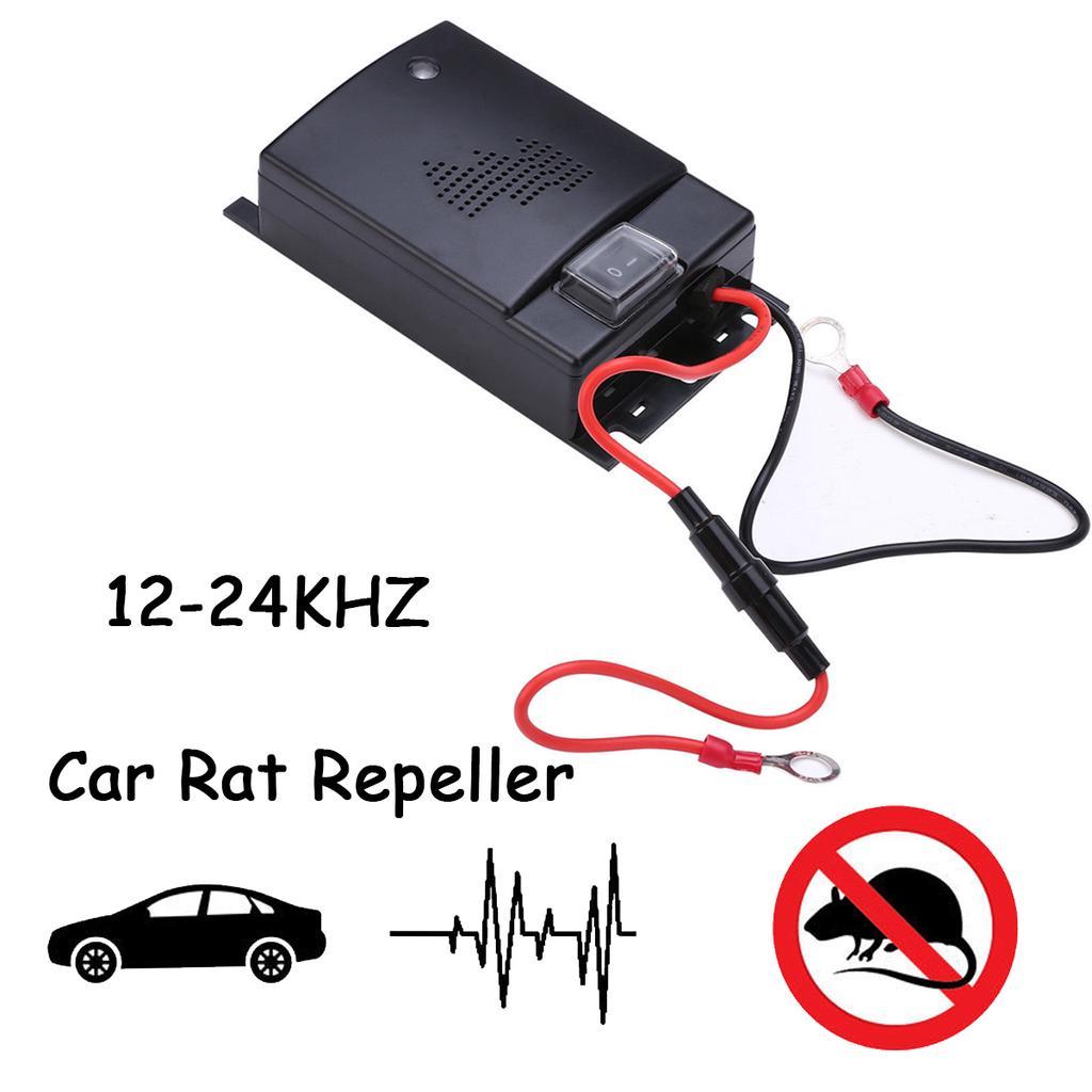 12V-24V Car Ultrasonic Pest Mouse Rat Repeller Mice Controller Deterrent Black