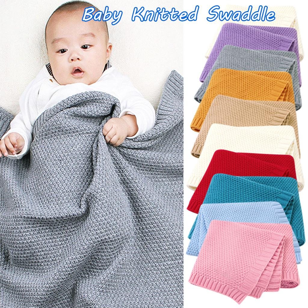 Baby Soft Crib Blanket Newborn Nursery Swaddle Warm Pram Sleep Rug 100X80cm