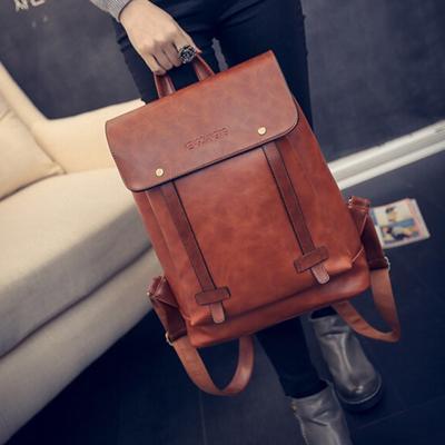 94239400dc8e Мужчины женщины кожа рюкзак путешествия сумка ноутбук рюкзак школы мешок