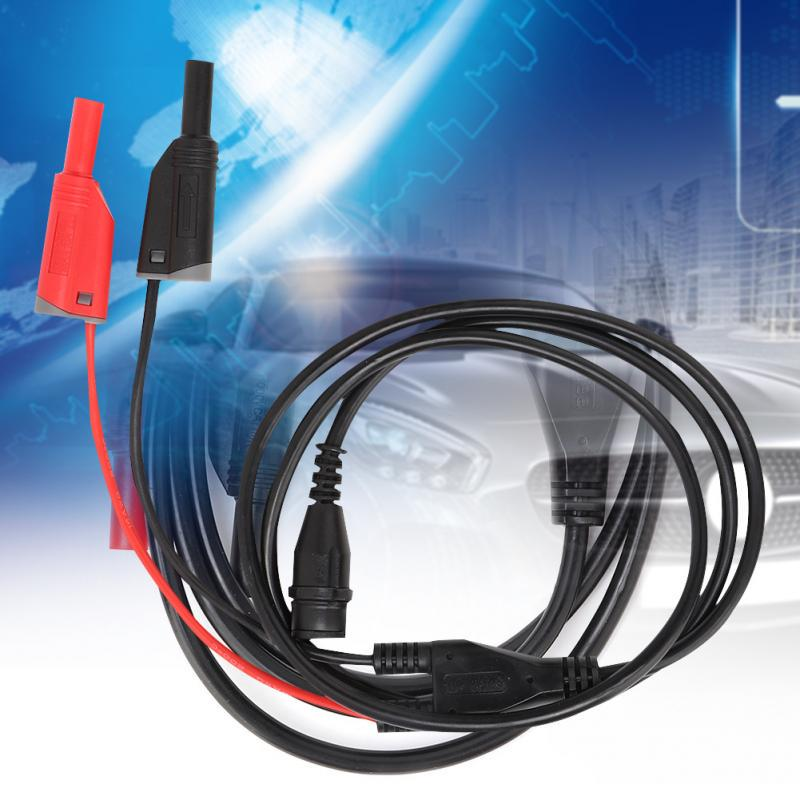 HT30A Heavy Duty BNC to Banana Cable Coaxial Cable BNC Male to Dual Banana Plug and Socket Jumper Cable Auto Test Leads 3 Meter for Oscilloscope