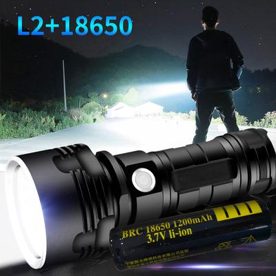 LED Zoom Flashlight XHP70 Torch USB Rechargeable Waterproof Lamp Ultra Bright