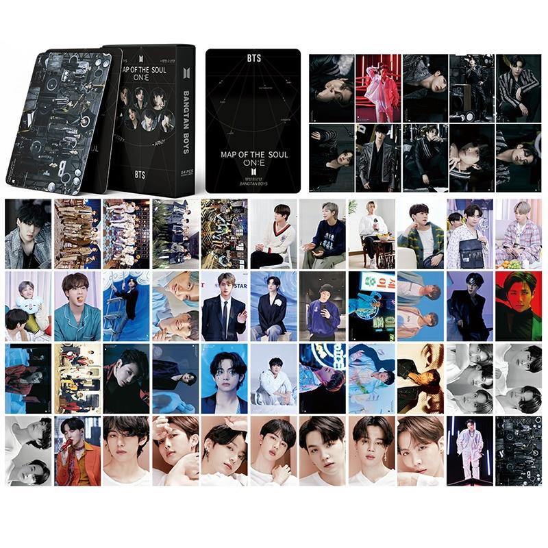 54pcs/box BTS Фотокарты MAP OF THE SOUL ON:E Альбом LOMO Card Kpop BT21 Открытка Вентиляторы Сувенирная карта купить недорого — выгодные цены, бесплатная доставка, реальные отзывы с фото — Joom