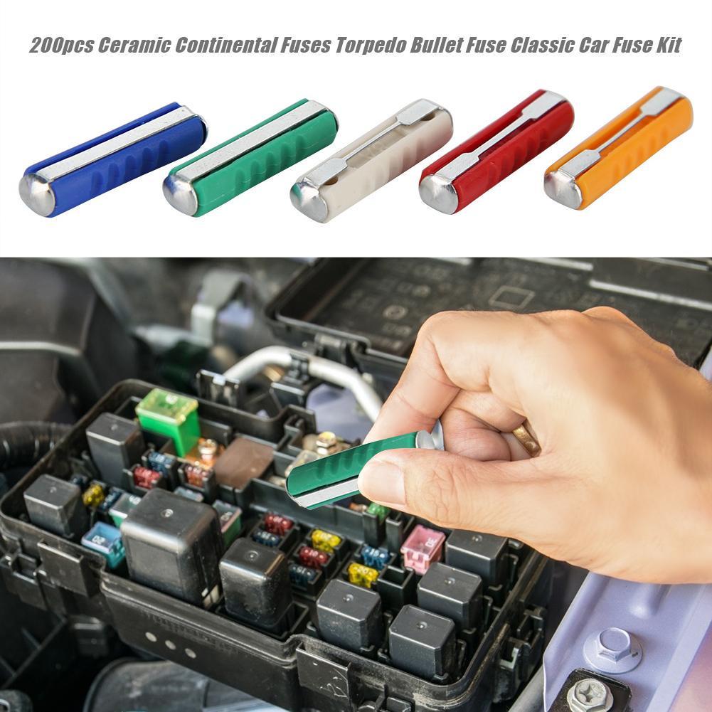200 Pieces of Various Box-Type fuses Torpedo Ceramic Bullets Classic car 5A 8A 10A 16A 25A