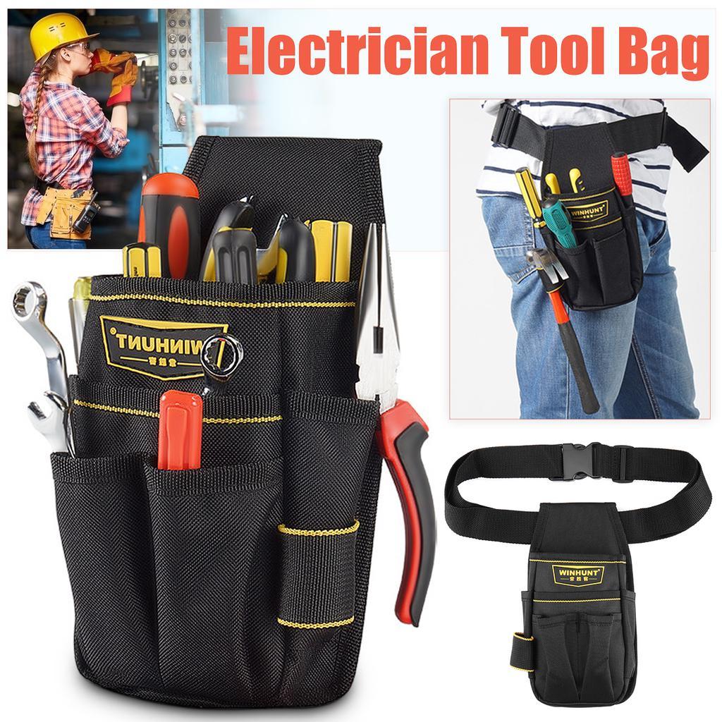 Waterproof Electrician Waist Tool Bag Storage Bag Pockets Pouch Organizer