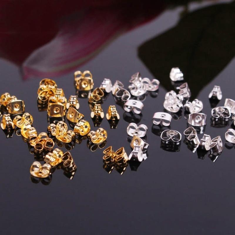 Tibetan Silver Pink Crystal Earring Posts Studs Jewelry Findings 10Pcs