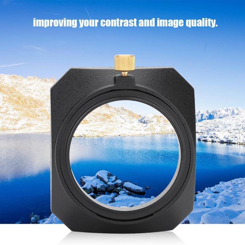 49mm with Screw Mount for DV Camcorder Digital Video Camera Lens Filter or Barrel Thread Square Lens Hood Shade