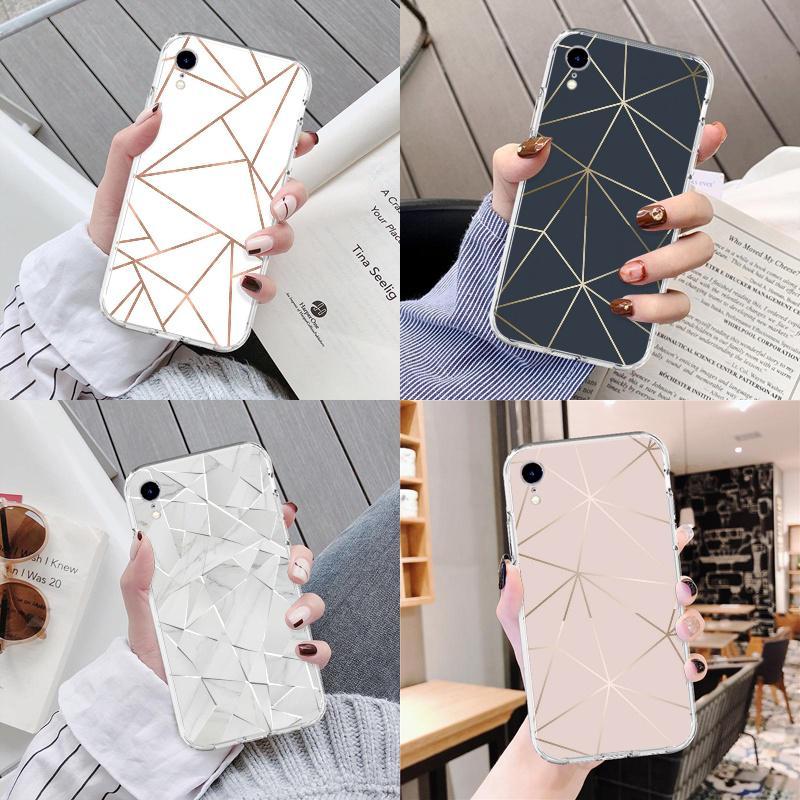 Металлическая полоса мрамора минималистский Телефон Чешоте Прозрачные Чехлы для Samsung S8/S9 Plus A7 (2017) фото