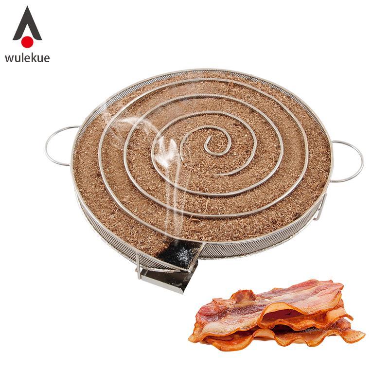 MagiDeal Edelstahl Fleisch Smoking Raucher Box für BBQ Hackschnitzel